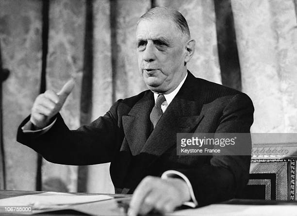 Paris Speech Of General De Gaulle On The Algerian Issue In 1960