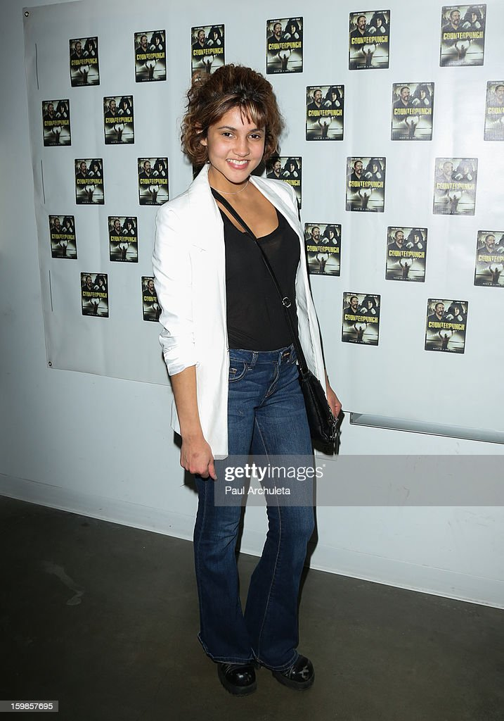 Paris St. John attends the Counterpunch screening at the Downtown Independent Theatre on January 20, 2013 in Los Angeles, California.