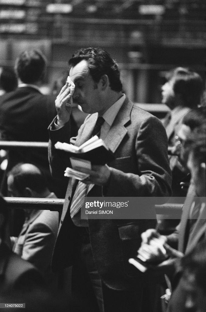 Paris Stock exchange in Paris France on October 10 1979