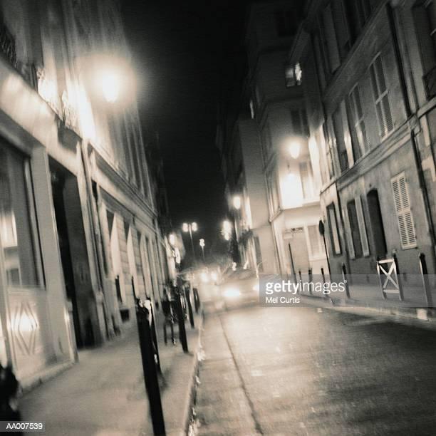 Paris Street at Night