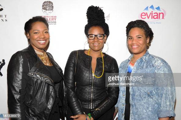 Paris Strother Anita Bias and Amber Strother of King arrive at Mr Musichead Gallery for the 'Miles Davis The Collected Artwork' Launch Party on...