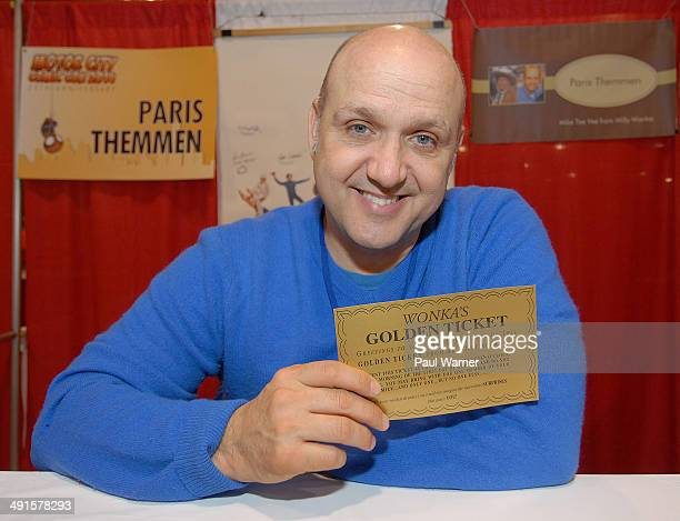 Paris Themmen who played Mike Tee Vee in the film 'Willy Wonka and the Chocolate Factory attends day 1 of the 25th annual Motor City Comic Con at...