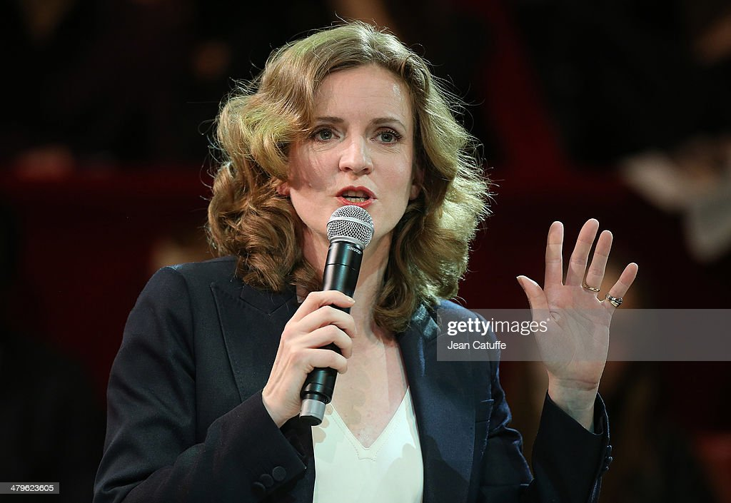 Paris UMP mayoral candidate Nathalie Kosciusko-Morizet , aka NKM, holds her last big meeting before the elections at Cirque d'Hiver on March 19, 2014 in Paris, France.