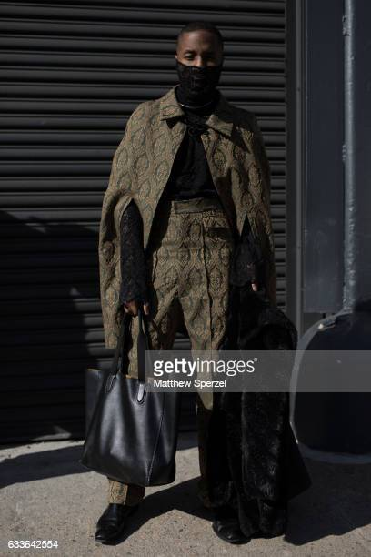 Paris Warren is seen attending Loris Diran/Bode/Combatant Gentlemen while wearing Underwood New York on February 2 2017 in New York City