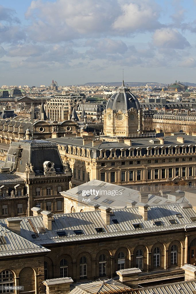 Paris Wiew from Notre Dame, France : Stock Photo
