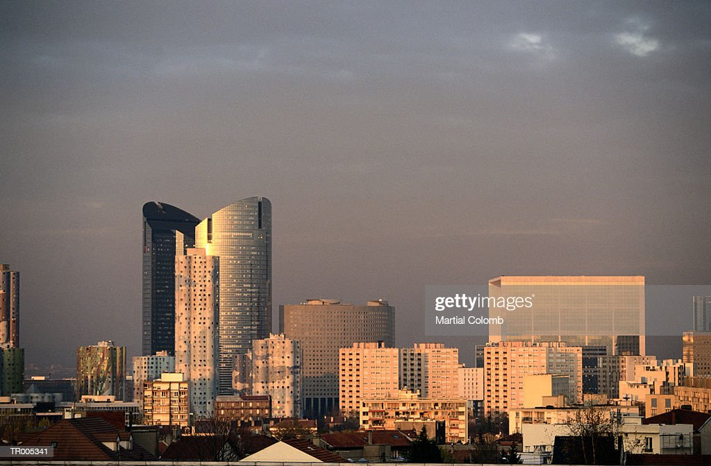 Paris with La Defense : Stock Photo