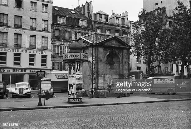 Paris XIth district rue du FaubourgSaintAntoine the fountain of the Petite halle