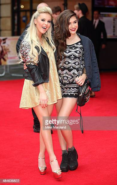 Parisa Tarjomani and BetsyBlue English attend the World Premiere of 'The Bad Education Movie' at Vue West End on August 20 2015 in London England