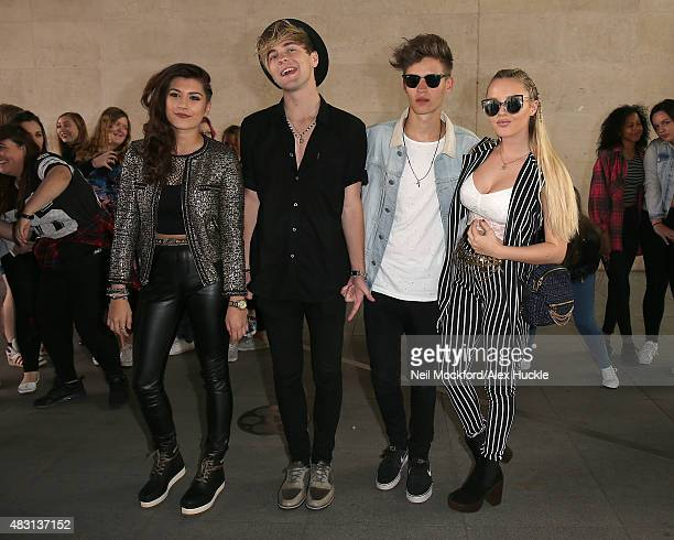 Parisa Tarjomani Mikey Bromley Charlie George and BetsyBlue English seen at BBC Radio One on August 6 2015 in London England