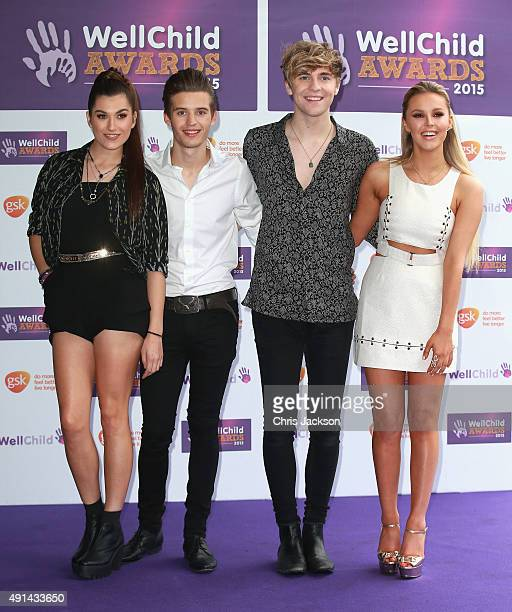 Parisa Tarjommani Charlie George Mikey Bromley and BetsyBlue English of Only the Young attend The WellChild Awards Ceremony at the London Hilton on...