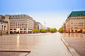 Pariser Platz, Unter den Linden street and panorama of Berlin, Germany