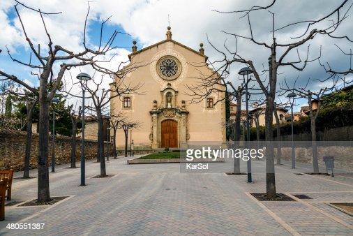 Parish Church of Sant Genis, Spain : Stock Photo