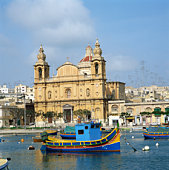 Parish Church on Msida Creek in Malta