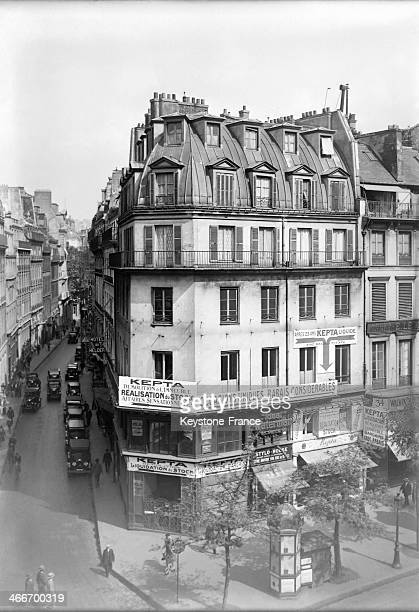Parisian Building in December 1929 in Paris France