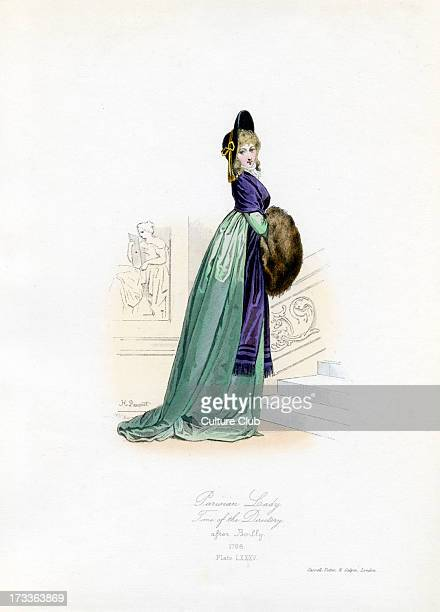Parisian Lady from the time of the Directory 1798 from engraving by Hippolyte Pauquet after Boilly The Executive Directory held power during the...