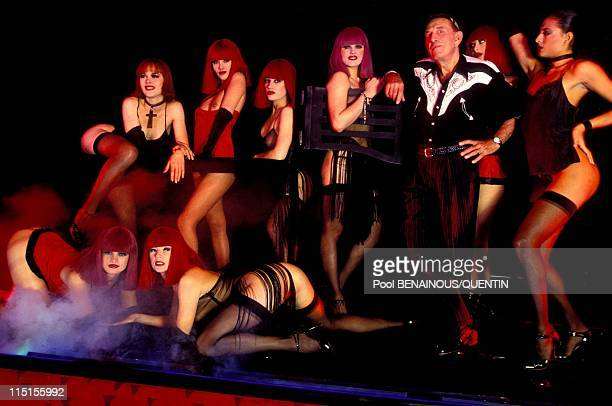 Parisian Prince of the night in Paris France in November 1993 Le Crazy Horse Alain Bernardin and his dancers