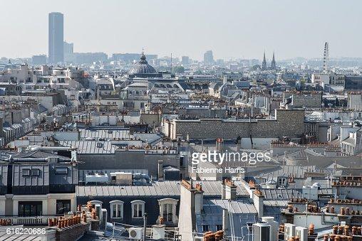 Parisian roofs : Stock Photo