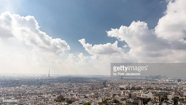 Parisian skyline with Eiffel Tower