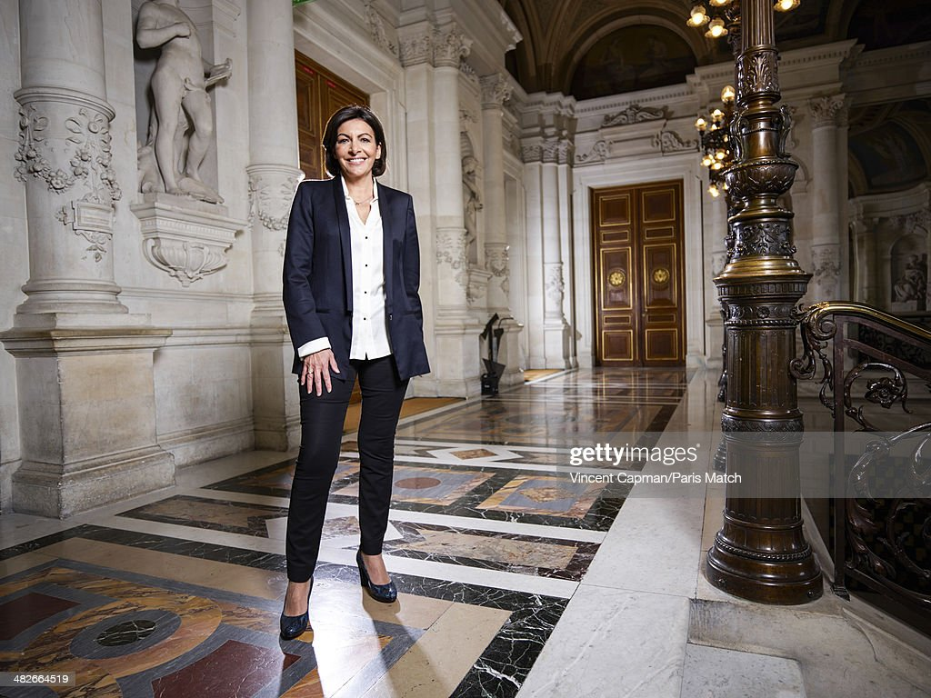 Paris's first woman mayor <a gi-track='captionPersonalityLinkClicked' href=/galleries/search?phrase=Anne+Hidalgo&family=editorial&specificpeople=590989 ng-click='$event.stopPropagation()'>Anne Hidalgo</a> is photographed for Paris Match on March 31, 2014 in Paris, France.