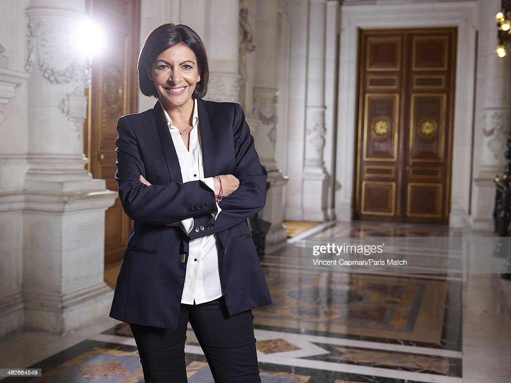 Paris's first woman mayor Anne Hidalgo is photographed for Paris Match on March 31, 2014 in Paris, France.