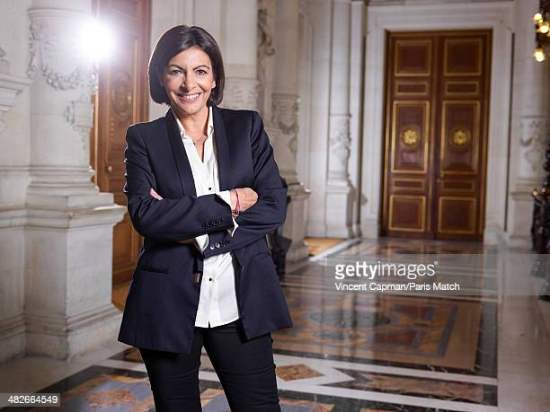 Paris's first woman mayor Anne Hidalgo is photographed for Paris Match on March 31 2014 in Paris France