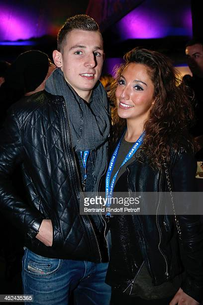 ParisSaintGermain Football Player Lucas Digne and his companion attend the 'One Drop' Gala held at Cirque du Soleil on November 28 2013 in Paris...