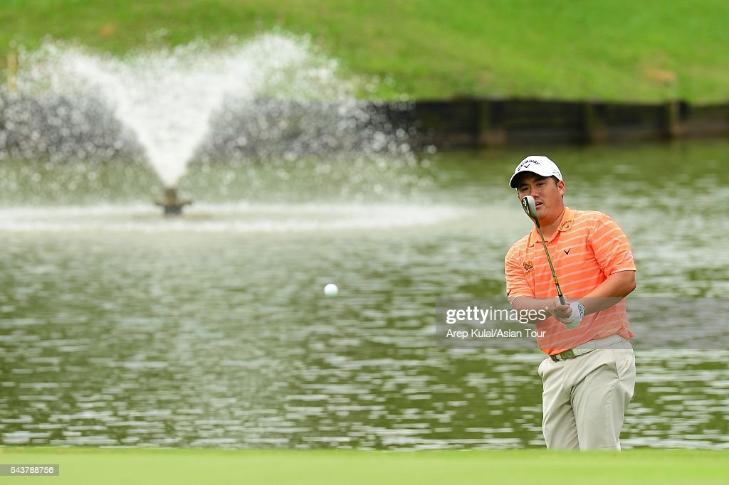 Pariya Junhasavasdikul of Thailand pictured during the round 1 of the Yeangder Tournament Players Championship at Linkou International Golf Club on June 30, 2016 in Taipei, Taiwan.