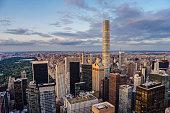 432 Park Avenue Skyscraper and Central Park in New York