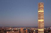 432 park avenue skyscraper at twilight in manhattan