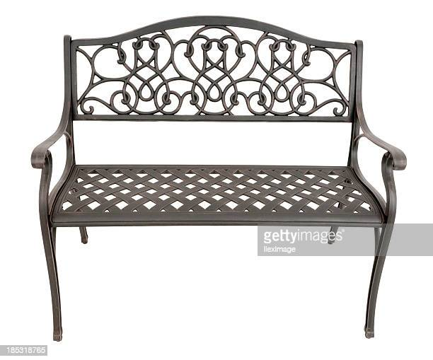 Park Bench - Front High Angle
