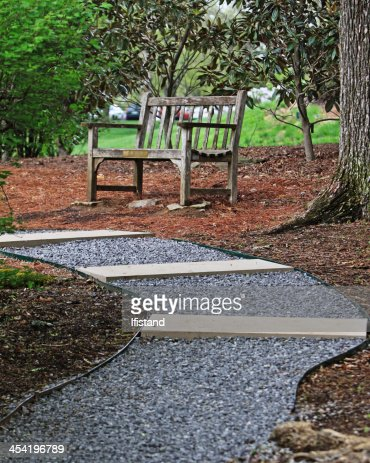 Park bench in the Gardens : Stock Photo