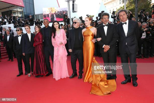 Park Chanwoo Maren Ade Will Smith Agnes Jaoui Fan Bingbing Pedro Almodovar Jessica Chastain Gabriel Yared and Paolo Sorrentino attend the 70th...