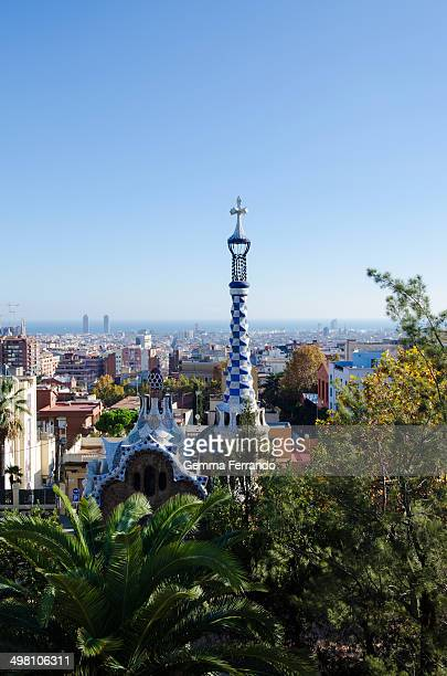 CONTENT] Park Güell is a garden complex with architectural elements situated on the hill of El Carmel in the Gràcia district of Barcelona Catalonia...
