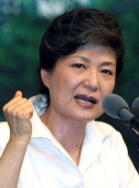 Park GeunHye former chairwoman of the main opposition Grand National Party and a daughter of former military dictator Park ChungHee who took power in...