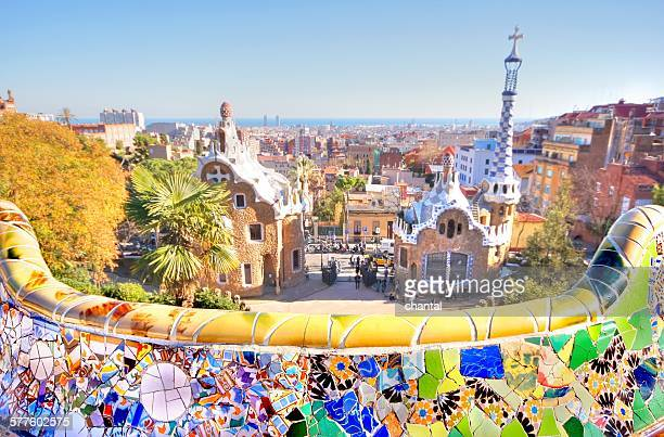 Park Guell at the city of barcelona