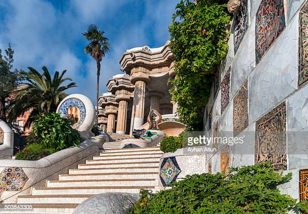 CONTENT] Park Guell is a garden complex with architectural elements situated on the hill of El Carmel in the Gracia district of Barcelona Catalonia...