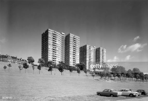Park Hill Flats in Sheffield are typical of the many highrise tower blocks built in Sheffield in the 1960s