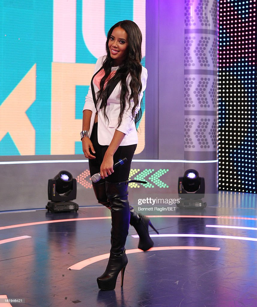 106 & Park host <a gi-track='captionPersonalityLinkClicked' href=/galleries/search?phrase=Angela+Simmons&family=editorial&specificpeople=653461 ng-click='$event.stopPropagation()'>Angela Simmons</a> 106 & Park at 106 & Park on September 23, 2013 in New York City.
