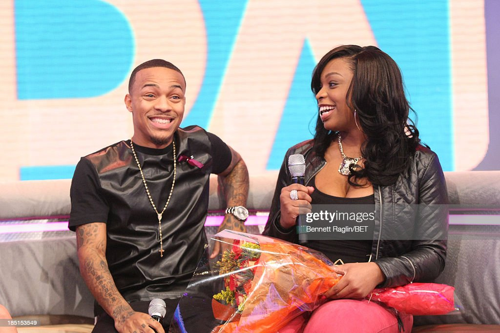 106 & Park host <a gi-track='captionPersonalityLinkClicked' href=/galleries/search?phrase=Bow+Wow+-+Rapper&family=editorial&specificpeople=211211 ng-click='$event.stopPropagation()'>Bow Wow</a> and Catfish victim Keyonnah Abrams attend 106 & Park at 106 & Park studio on October 17, 2013 in New York City.
