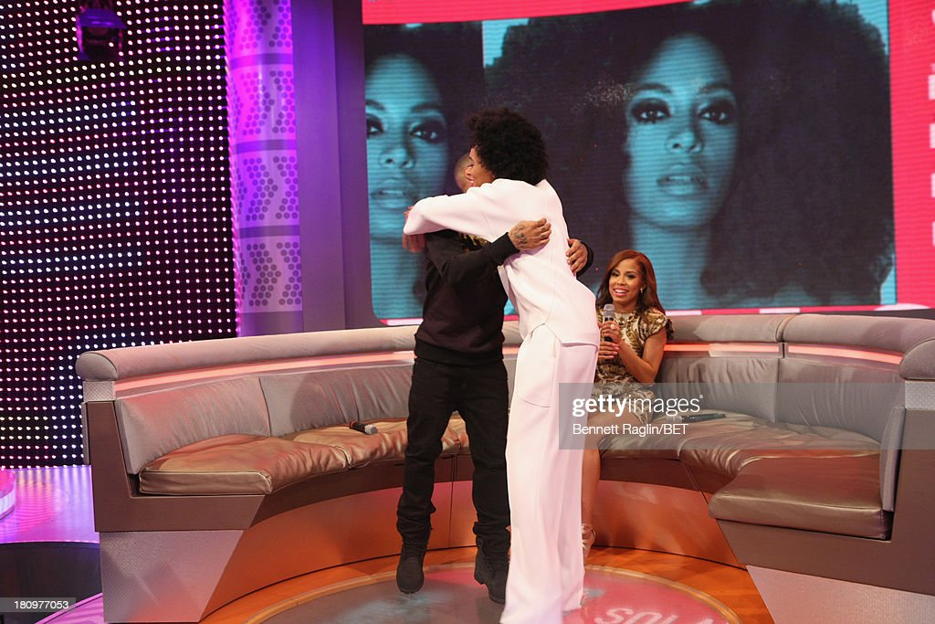 106 & Park host Bow Wow and Solange Knowles attend 106 & Park at 106 & Park Studio on September 18, 2013 in New York City.