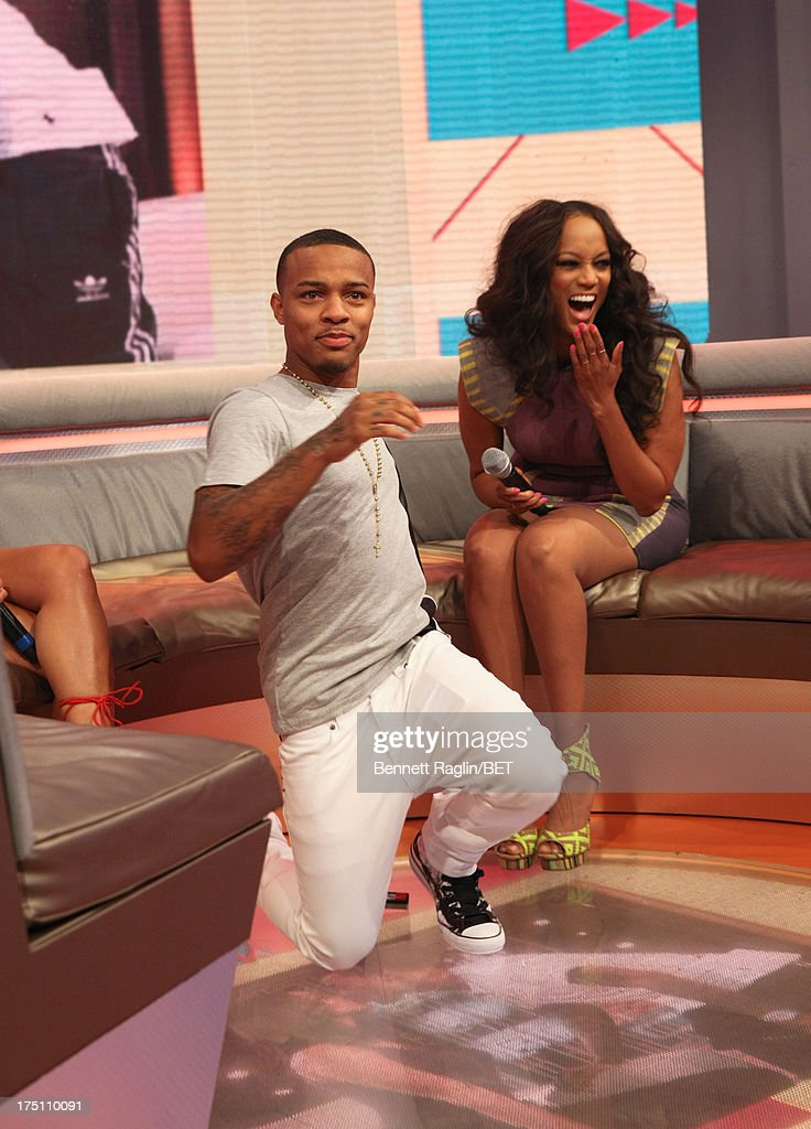 '106 & Park' host Bow Wow and Tyra Banks attend BET's '106 & Park' at BET Studios on July 31, 2013 in New York City.
