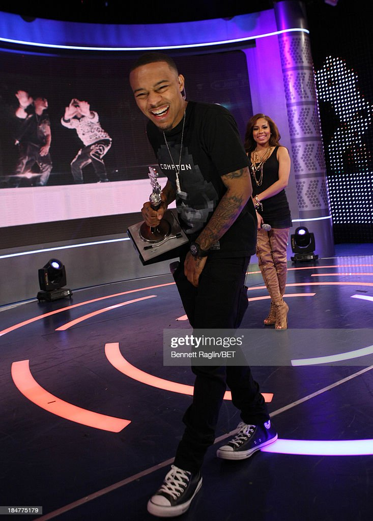 106 & Park host <a gi-track='captionPersonalityLinkClicked' href=/galleries/search?phrase=Bow+Wow+-+Rapper&family=editorial&specificpeople=211211 ng-click='$event.stopPropagation()'>Bow Wow</a> attends 106 & Park at 106 & Park studio on October 15, 2013 in New York City.