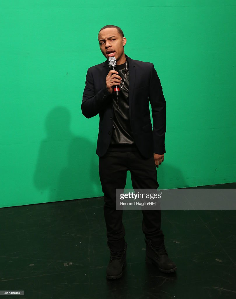 106 & Park host <a gi-track='captionPersonalityLinkClicked' href=/galleries/search?phrase=Bow+Wow+-+Rapper&family=editorial&specificpeople=211211 ng-click='$event.stopPropagation()'>Bow Wow</a> attends 106 & Park at BET studio on December 16, 2013 in New York City.