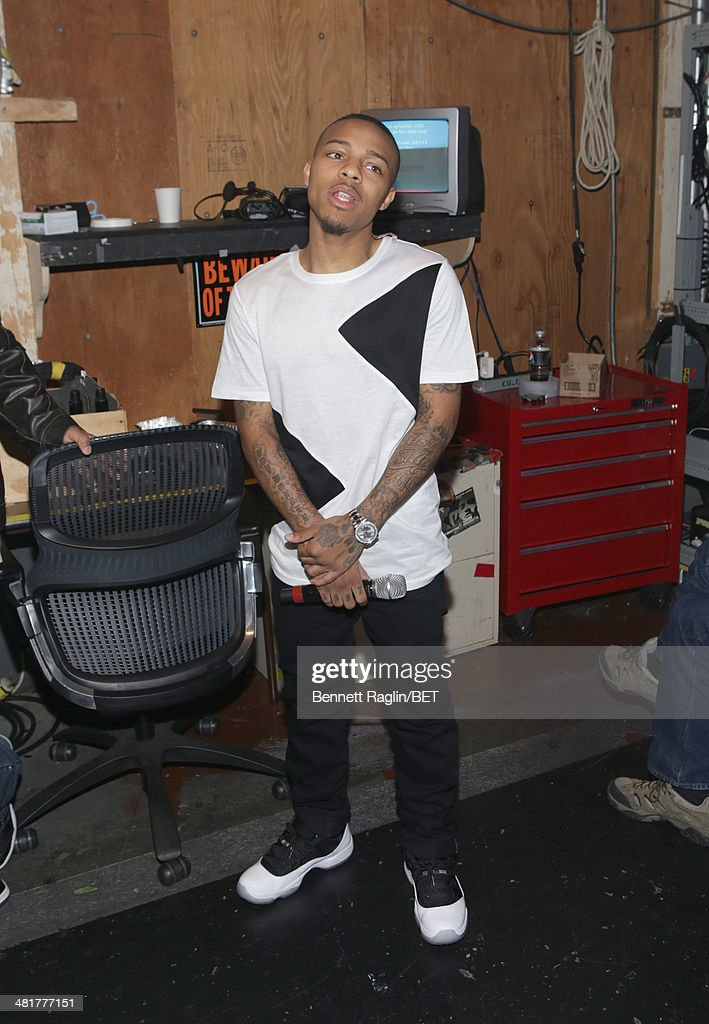 106 & Park host Bow Wow attends 106 & Park at BET studio on March 31, 2014 in New York City.