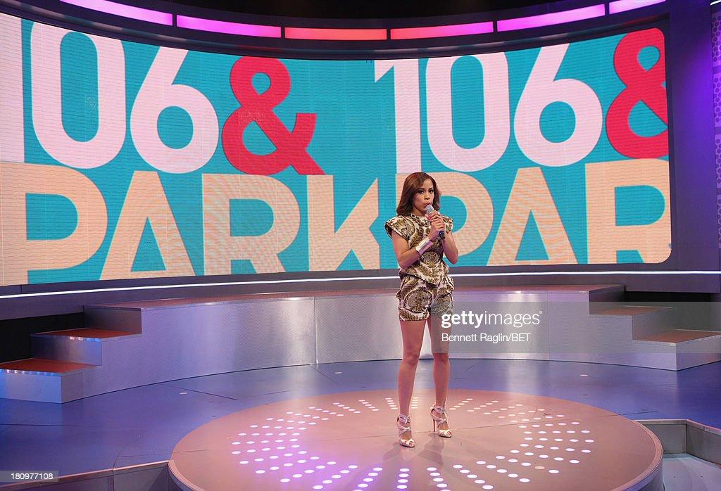 106 & Park host Keshia Chante attends 106 & Park at 106 & Park Studio on September 18, 2013 in New York City.