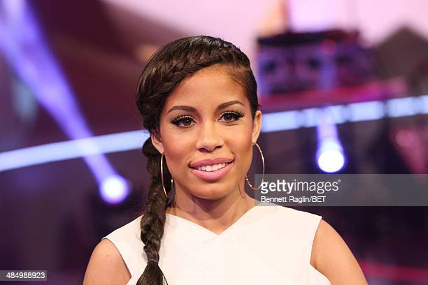 106 Park host Keshia Chante attends 106 Park at BET studio April 14 2014 in New York City