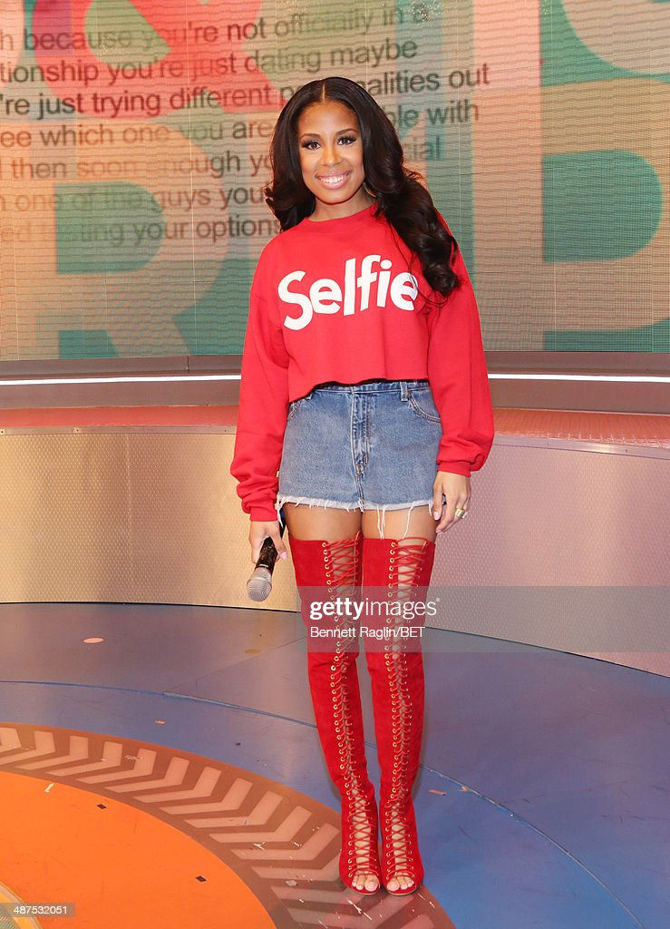 106 & Park host Keshia Chante attends 106 & Park at BET studio on April 30, 2014 in New York City.