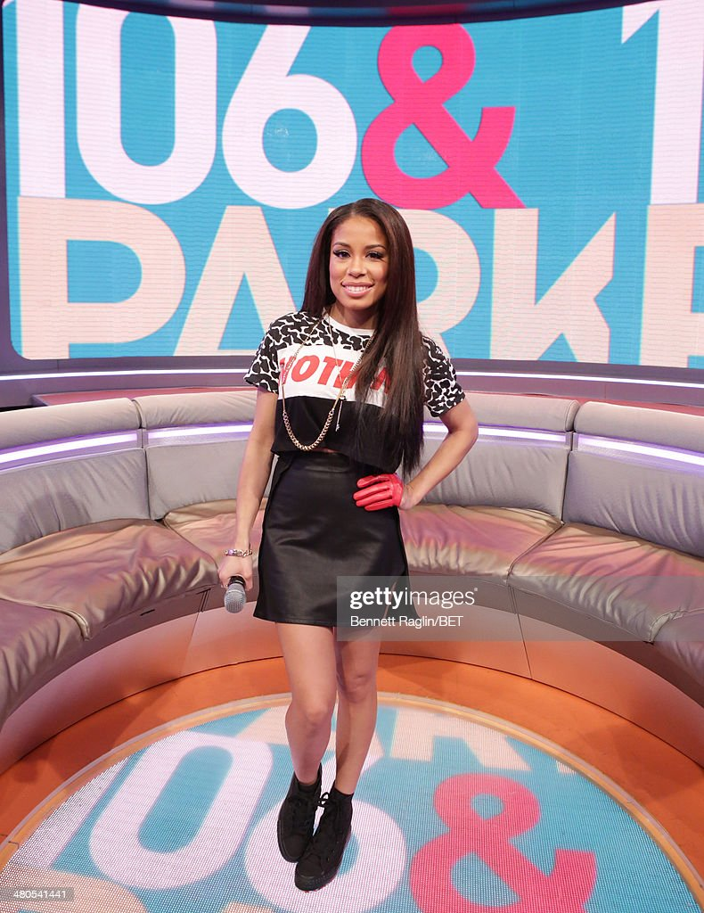 106 & Park host Keshia Chante attends 106 & Park at BET studio on March 24, 2014 in New York City.