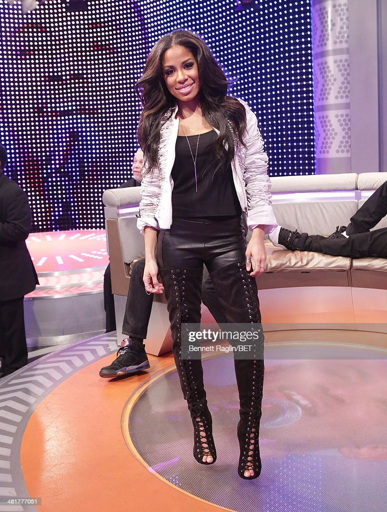 106 & Park host Keshia Chante attends 106 & Park at BET studio on March 31, 2014 in New York City.