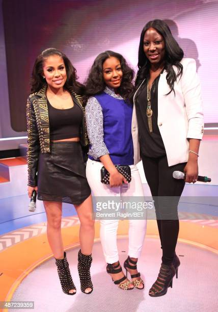106 Park host Keshia Chante Marshalls style expert NIcole Young and model Miyori Jones attend 106 Park at Bet studio on April 28 2014 in New York City